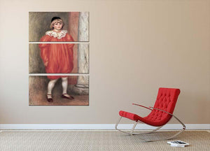 The clown by Renoir 3 Split Panel Canvas Print - Canvas Art Rocks - 2