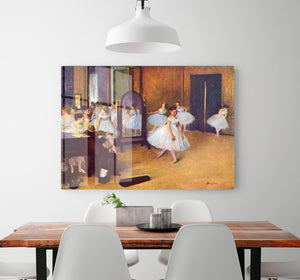 The dance hall by Degas HD Metal Print - Canvas Art Rocks - 2