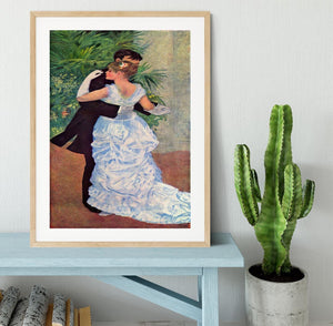 The dance in the city by Renoir Framed Print - Canvas Art Rocks - 3