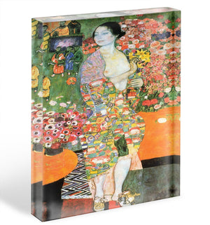 The dancer by Klimt Acrylic Block - Canvas Art Rocks - 1