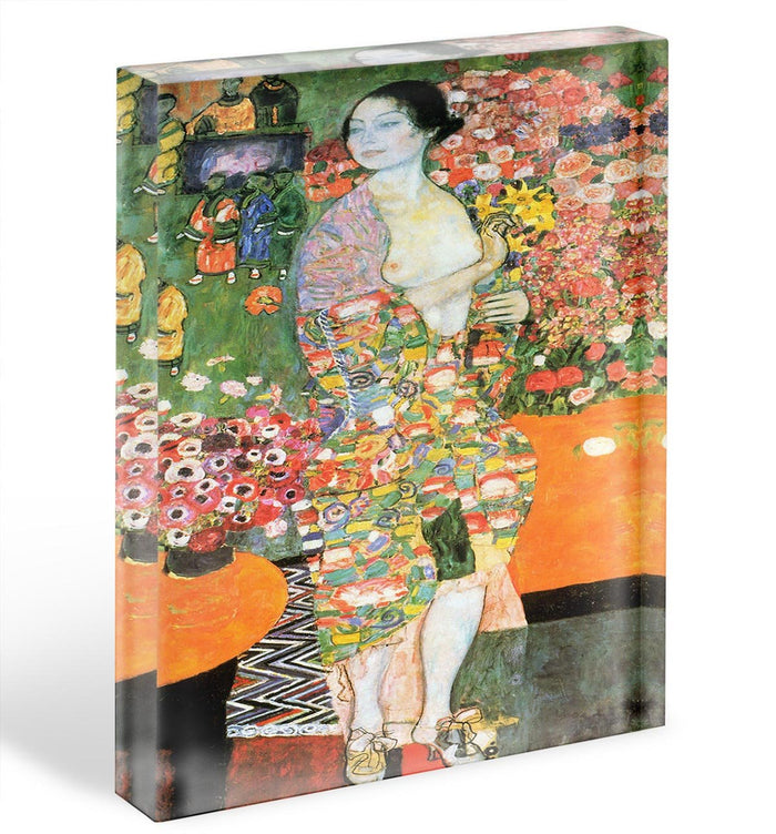 The dancer by Klimt Acrylic Block