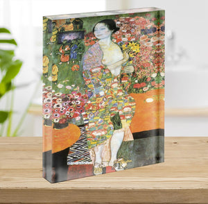 The dancer by Klimt Acrylic Block - Canvas Art Rocks - 2