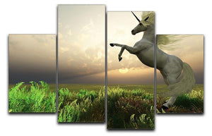 The fabled Unicorn Stag 4 Split Panel Canvas  - Canvas Art Rocks - 1