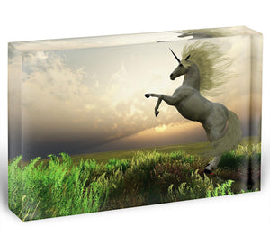 The fabled Unicorn Stag Acrylic Block - Canvas Art Rocks - 1