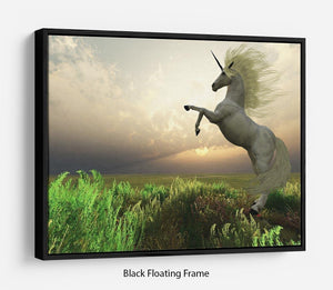 The fabled Unicorn Stag Floating Frame Canvas