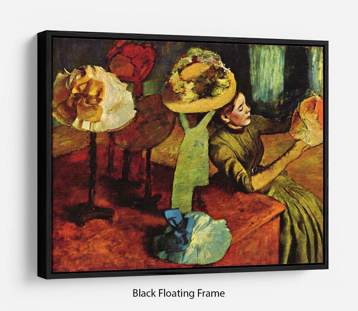 The fashion shop by Degas Floating Frame Canvas