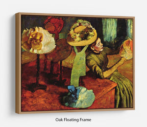 The fashion shop by Degas Floating Frame Canvas - Canvas Art Rocks - 9