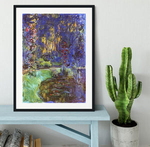 The garden in Giverny by Monet Framed Print - Canvas Art Rocks - 1