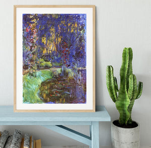 The garden in Giverny by Monet Framed Print - Canvas Art Rocks - 3