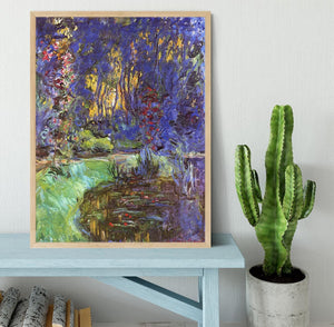 The garden in Giverny by Monet Framed Print - Canvas Art Rocks - 4