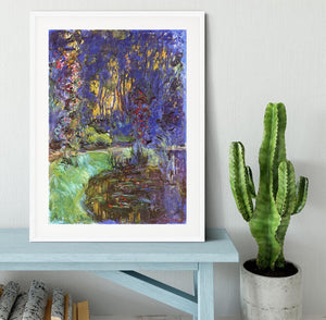 The garden in Giverny by Monet Framed Print - Canvas Art Rocks - 5