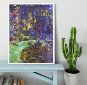 The garden in Giverny by Monet Framed Print - Canvas Art Rocks -6