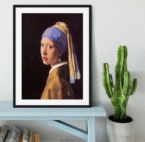 The girl with the pearl earring by Vermeer Framed Print - Canvas Art Rocks - 1