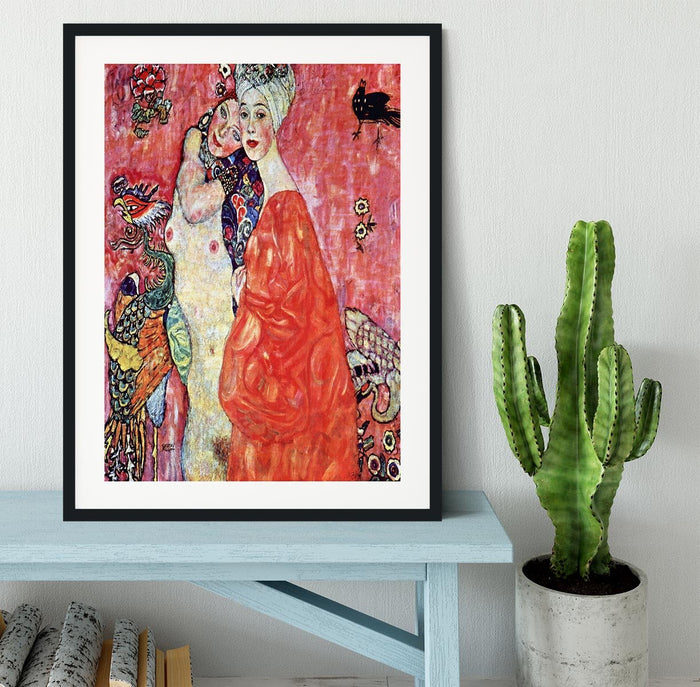 The girlfriends by Klimt Framed Print