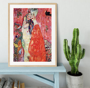 The girlfriends by Klimt Framed Print - Canvas Art Rocks - 3