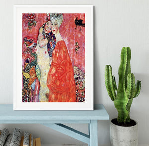 The girlfriends by Klimt Framed Print - Canvas Art Rocks - 5