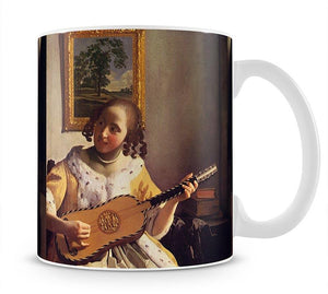 The guitar player by Vermeer Mug - Canvas Art Rocks - 1