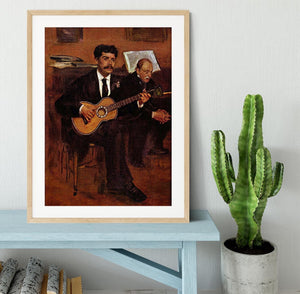 The guitarist Pagans and Monsieur Degas by Degas Framed Print - Canvas Art Rocks - 3