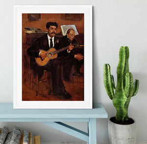 The guitarist Pagans and Monsieur Degas by Degas Framed Print - Canvas Art Rocks - 5