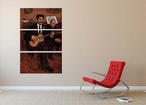 The guitarist Pagans and Monsieur Degas by Manet 3 Split Panel Canvas Print - Canvas Art Rocks - 2