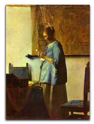 The letter reader by Vermeer Canvas Print or Poster - Canvas Art Rocks - 1
