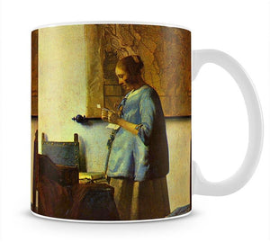 The letter reader by Vermeer Mug - Canvas Art Rocks - 1