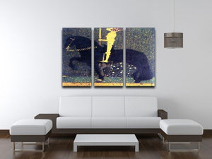 The life of a struggle The Golden Knights by Klimt 3 Split Panel Canvas Print - Canvas Art Rocks - 3