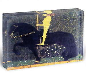 The life of a struggle The Golden Knights by Klimt Acrylic Block - Canvas Art Rocks - 1
