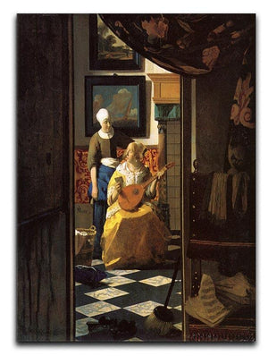 The love letter by Vermeer Canvas Print or Poster - Canvas Art Rocks - 1