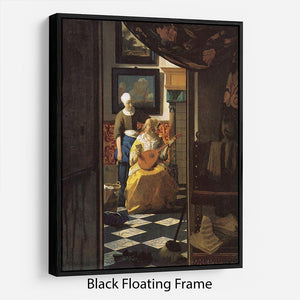 The love letter by Vermeer Floating Frame Canvas - Canvas Art Rocks - 1
