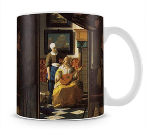 The love letter by Vermeer Mug - Canvas Art Rocks - 1