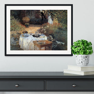 The lunch 2 by Monet Framed Print - Canvas Art Rocks - 1