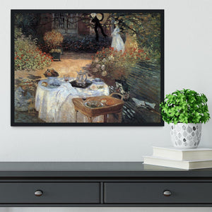 The lunch 2 by Monet Framed Print - Canvas Art Rocks - 2