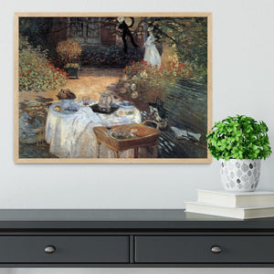 The lunch 2 by Monet Framed Print - Canvas Art Rocks - 4