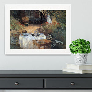 The lunch 2 by Monet Framed Print - Canvas Art Rocks - 5