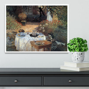 The lunch 2 by Monet Framed Print - Canvas Art Rocks -6