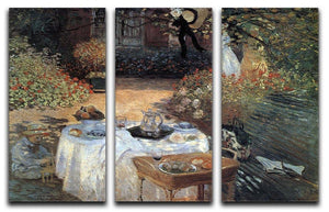 The lunch 2 by Monet Split Panel Canvas Print - Canvas Art Rocks - 4