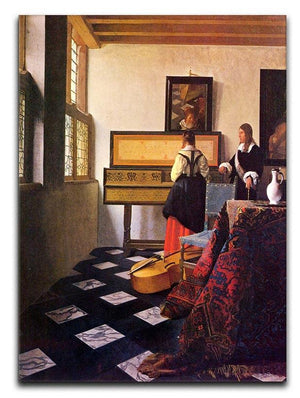 The music lesson by Vermeer Canvas Print or Poster - Canvas Art Rocks - 1