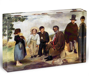 The old musician by Manet Acrylic Block - Canvas Art Rocks - 1
