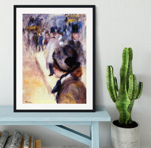 The place Clichy by Renoir Framed Print - Canvas Art Rocks - 1