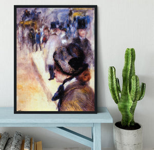 The place Clichy by Renoir Framed Print - Canvas Art Rocks - 2