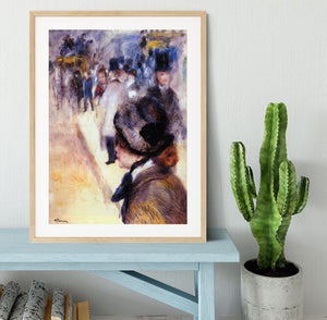 The place Clichy by Renoir Framed Print - Canvas Art Rocks - 3
