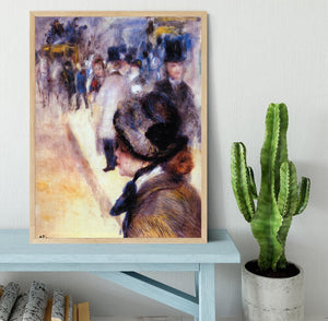 The place Clichy by Renoir Framed Print - Canvas Art Rocks - 4