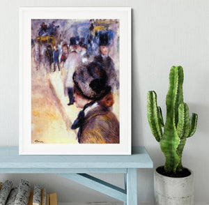 The place Clichy by Renoir Framed Print - Canvas Art Rocks - 5