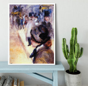 The place Clichy by Renoir Framed Print - Canvas Art Rocks -6