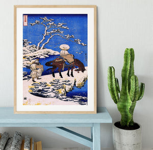 The poet Teba on a horse by Hokusai Framed Print - Canvas Art Rocks - 3