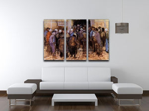 The poor and money by Van Gogh 3 Split Panel Canvas Print - Canvas Art Rocks - 4