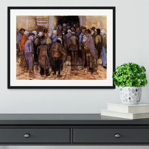 The poor and money by Van Gogh Framed Print - Canvas Art Rocks - 1