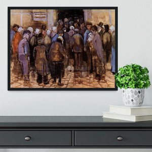 The poor and money by Van Gogh Framed Print - Canvas Art Rocks - 2