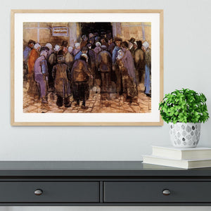 The poor and money by Van Gogh Framed Print - Canvas Art Rocks - 3